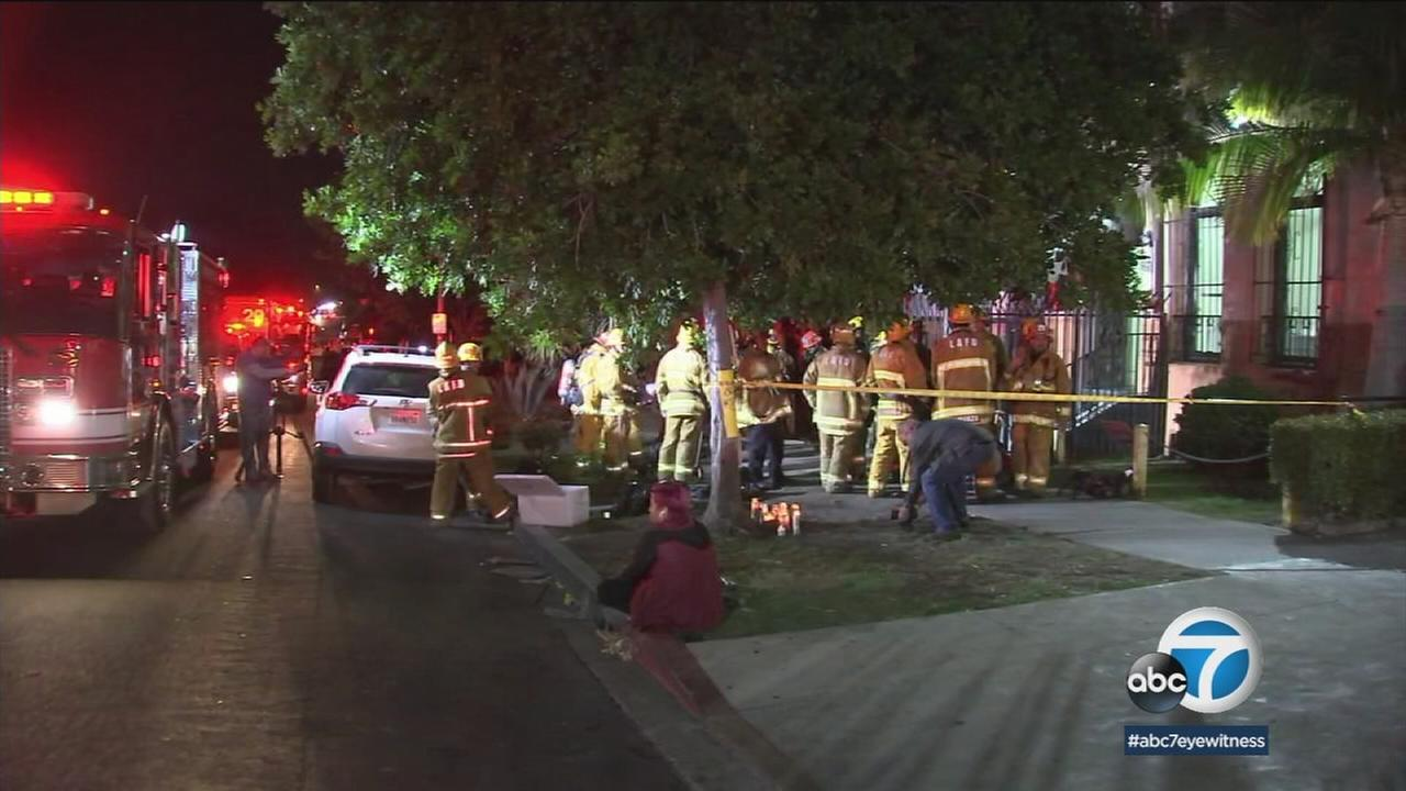 One person is dead and another was transported after falling ill in Koreatown due to suspected carbon monoxide poisoning.