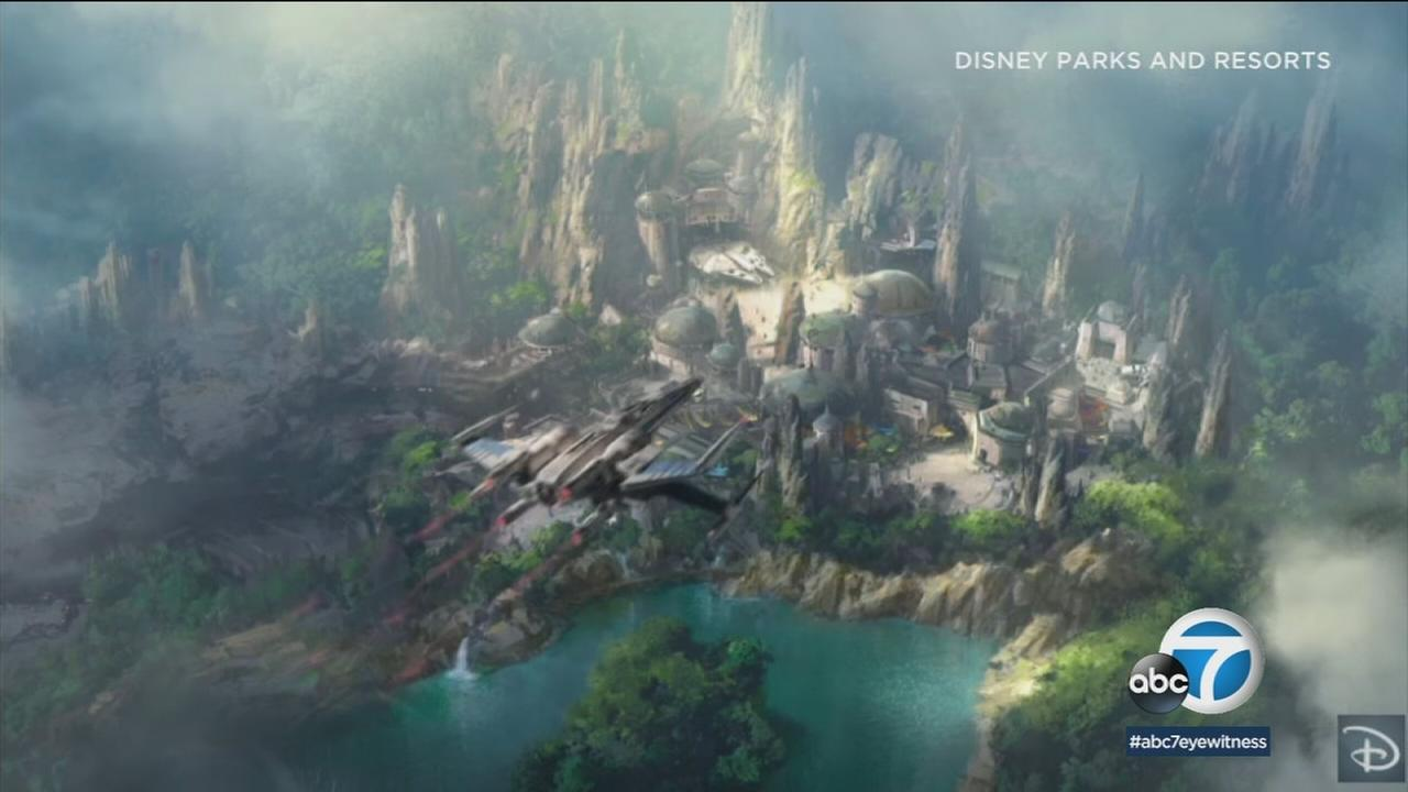 Aerial footage provides a new look at the construction progress on Star Wars land in Anaheim, and its out of this world.