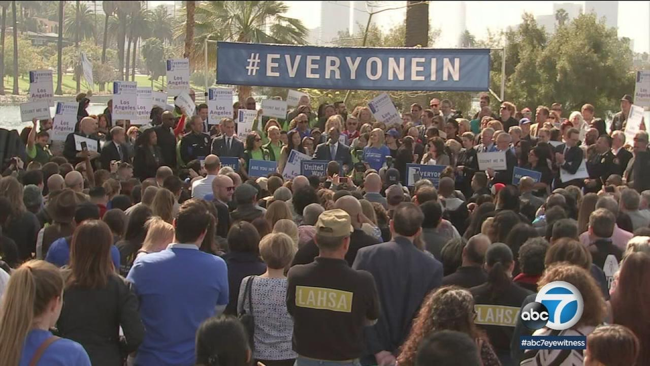 Los Angeles city and county leaders are launching Everyone In, a coalition of people fighting towards the common goal of ending homelessness across Los Angeles County.