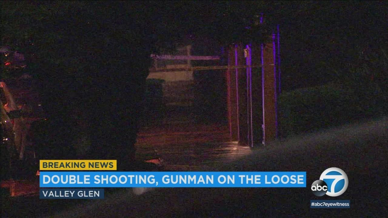 Authorities cordoned off the scene of a fatal shooting in a Valley Glen neighborhood on Saturday, March 10, 2018.