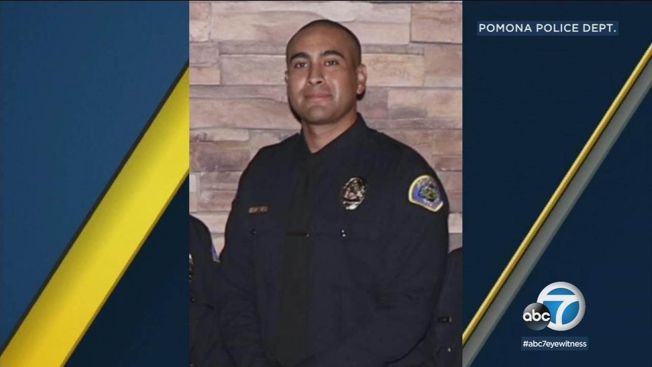 Pomona police Officer Greggory Casillas, 30, of Upland, is shown in a photo provided by the department.