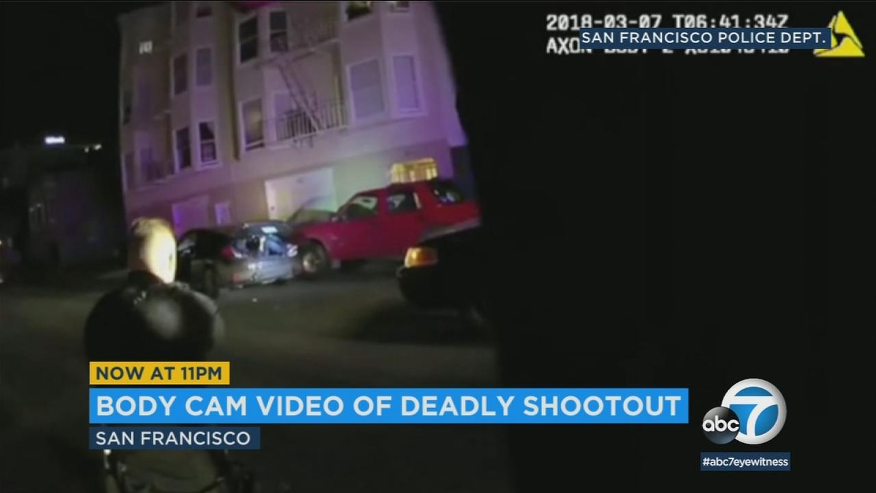 Body cam footage released by the San Francisco Police Department shows a standoff that ended in the death of 19-year-old Jesus Delgado.