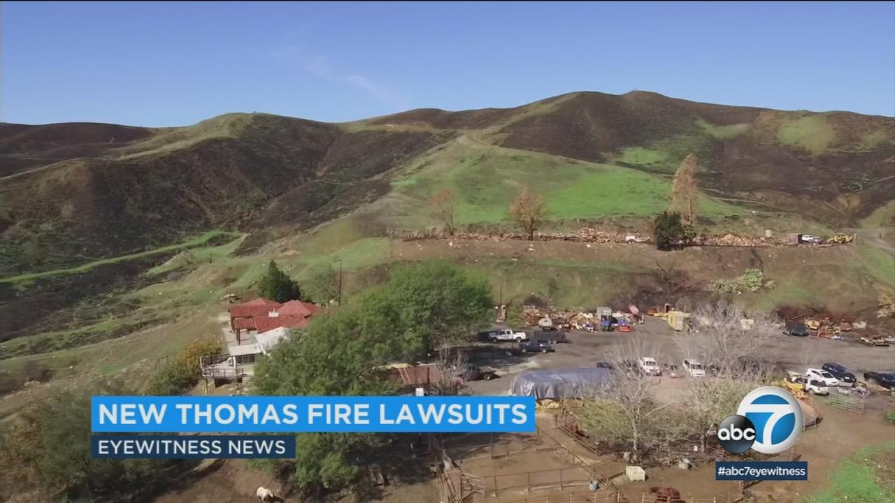 Theyre seeking unspecified damages, accusing the company of causing the Thomas Fire.
