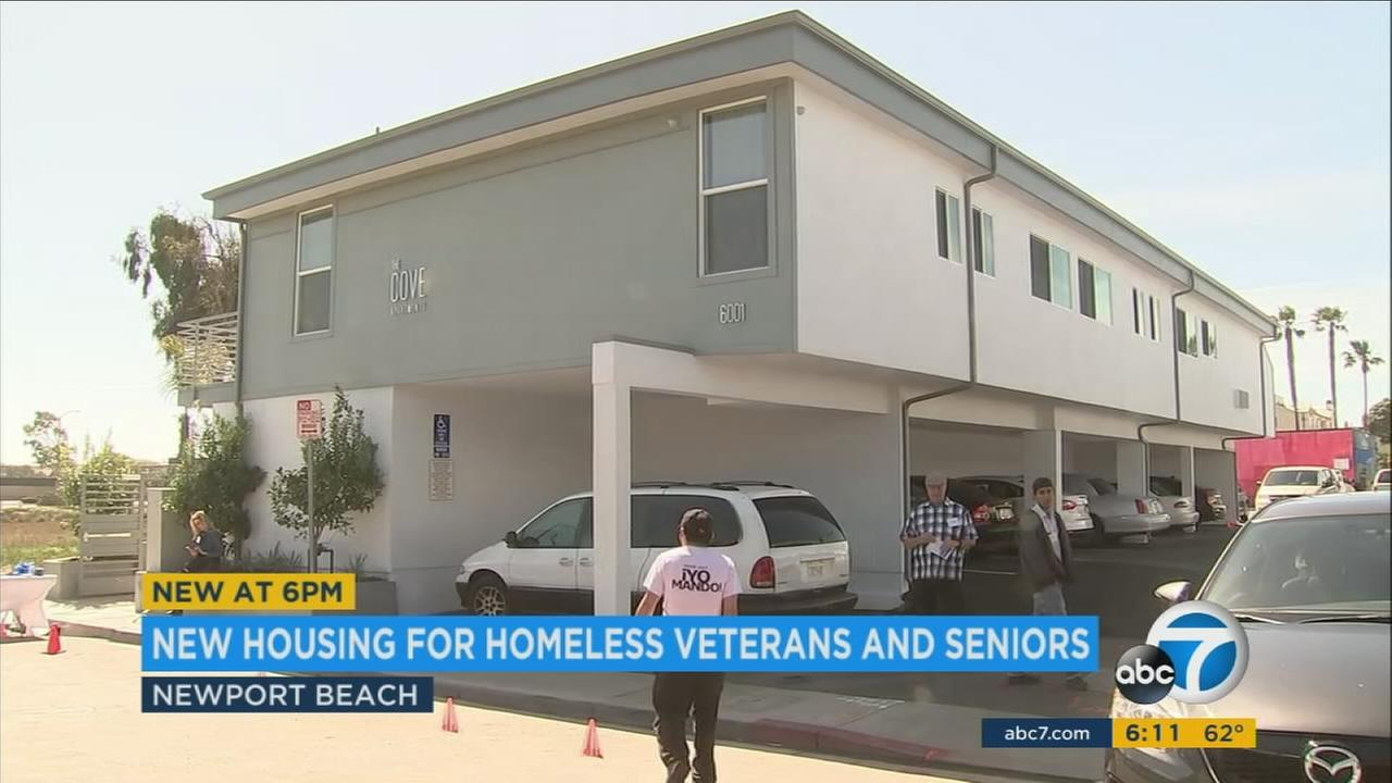 Newport Beach celebrated the opening of new affordable housing for homeless veterans and low income seniors.