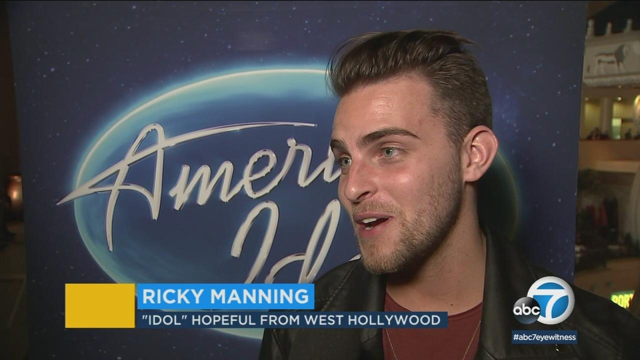 American Idol hopeful Ricky Manning talks about the surreal experience of meeting judges Luke Bryan, Katy Perry and Lionel Richie.