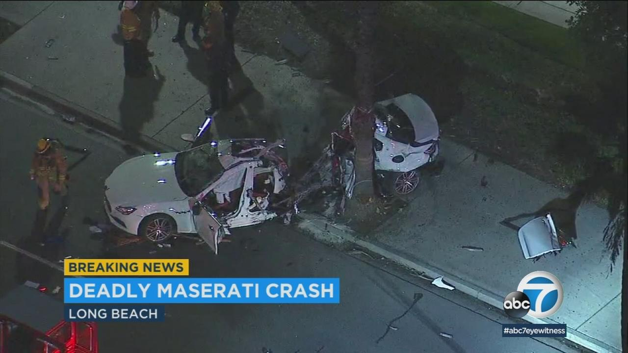 On man is dead and another was critically injured after a shocking single-car crash in Long Beach Friday, March 16, 2018.