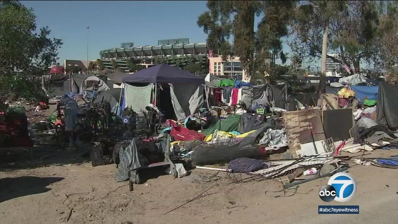 Orange County and city officials and advocates met to discuss housing homeless people removed from an encampment in Santa Ana Saturday, March 17, 2018.
