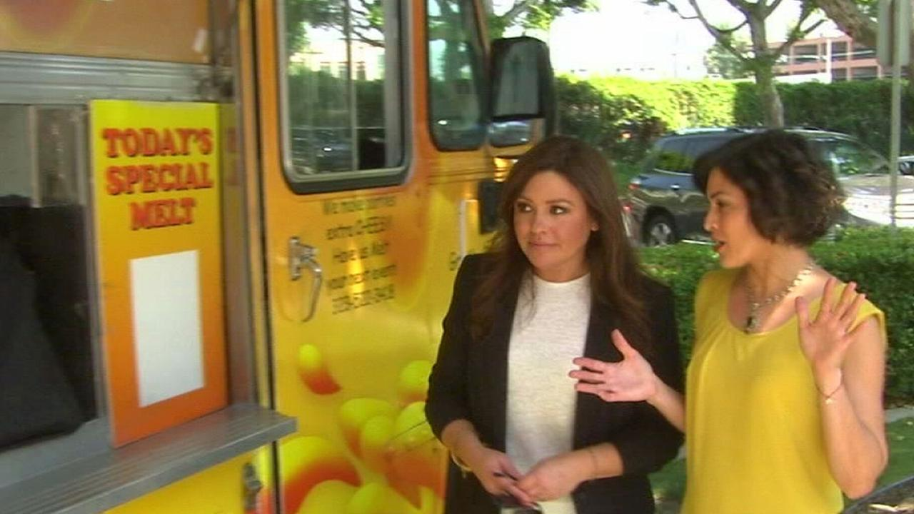 Rachael Ray and Tina Malave tried the Grilled Cheese Truck.