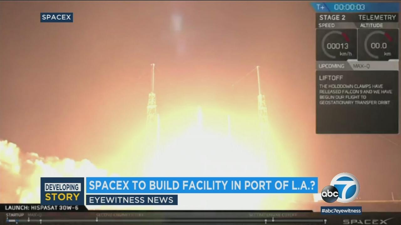 Hawthorne-based SpaceX is negotiating to lease 18 acres at the Port of Los Angeles to be used for building large commercial transportation vessels.