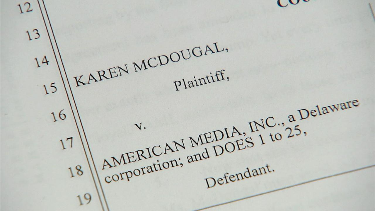 Court documents show a lawsuit filed against AMI by former Playboy playmate Karen McDougal.