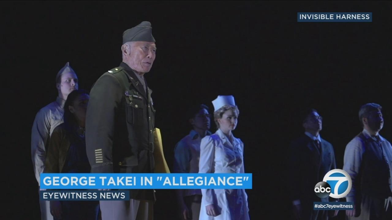 George Takei is starring in the musical Allegiance based on his familys experiences in America during WWII.