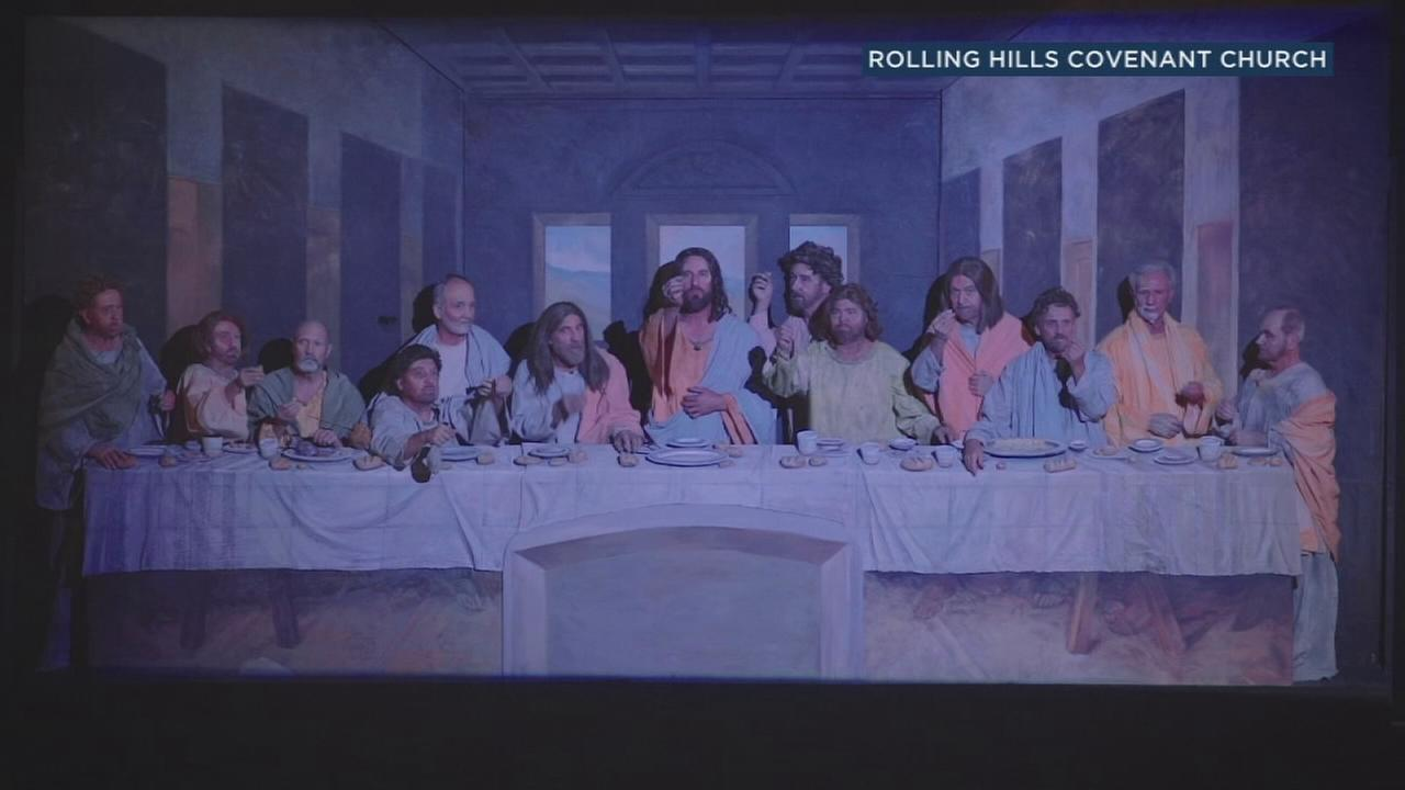 The annual Pageant of Our Lord recreates famous religious artwork for a theatrical showstopper in Rolling Hills.