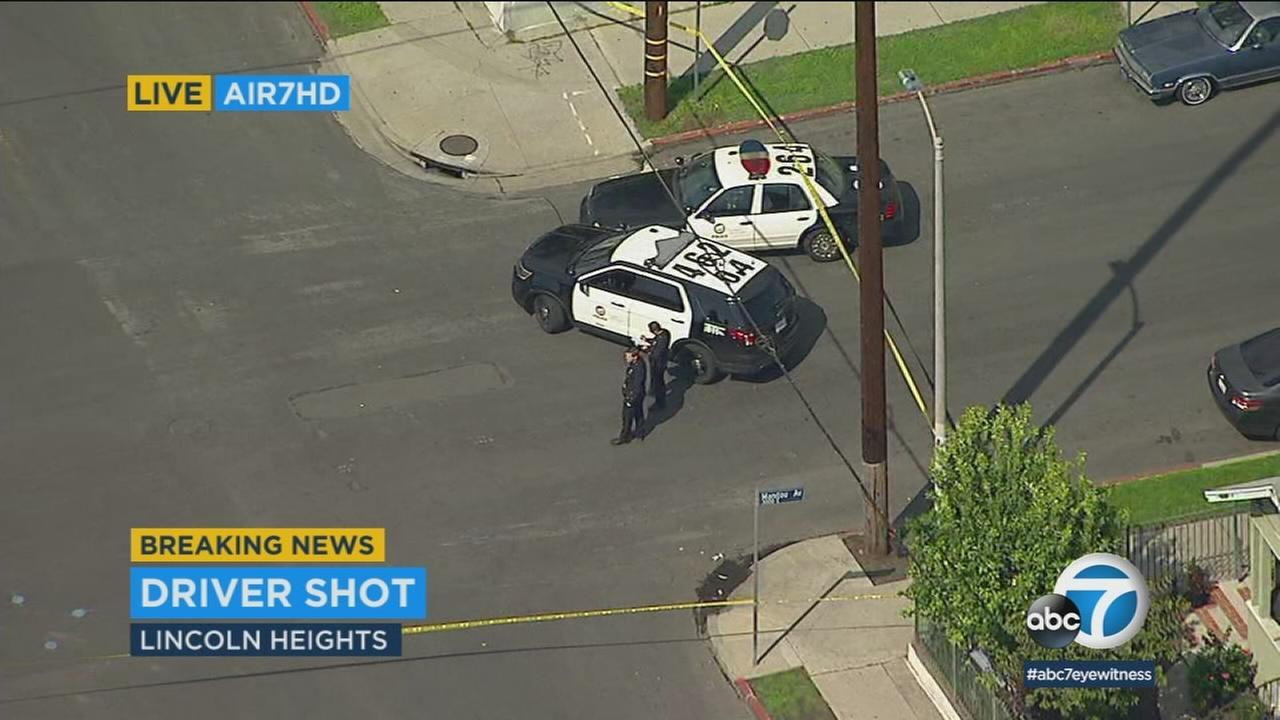 One person was shot at the scene of a traffic collision in Lincoln Heights, according to Los Angeles police.