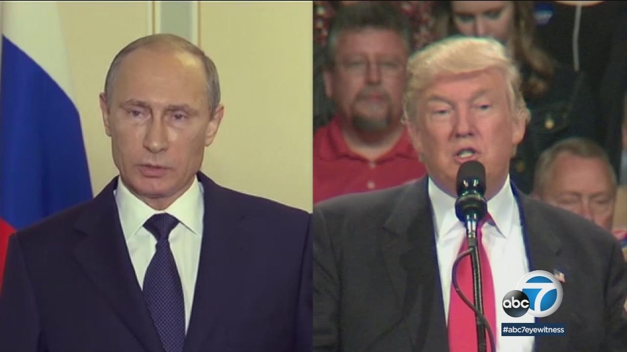 Undated photos of Russian President Vladimir Putin and U.S. President Donald Trump.