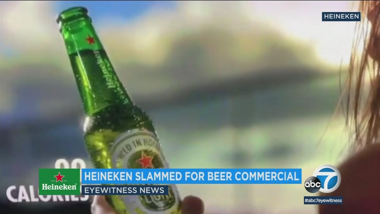 Heineken has removed its sometimes lighter is better commercial after online commentators accused the ad of being racist.