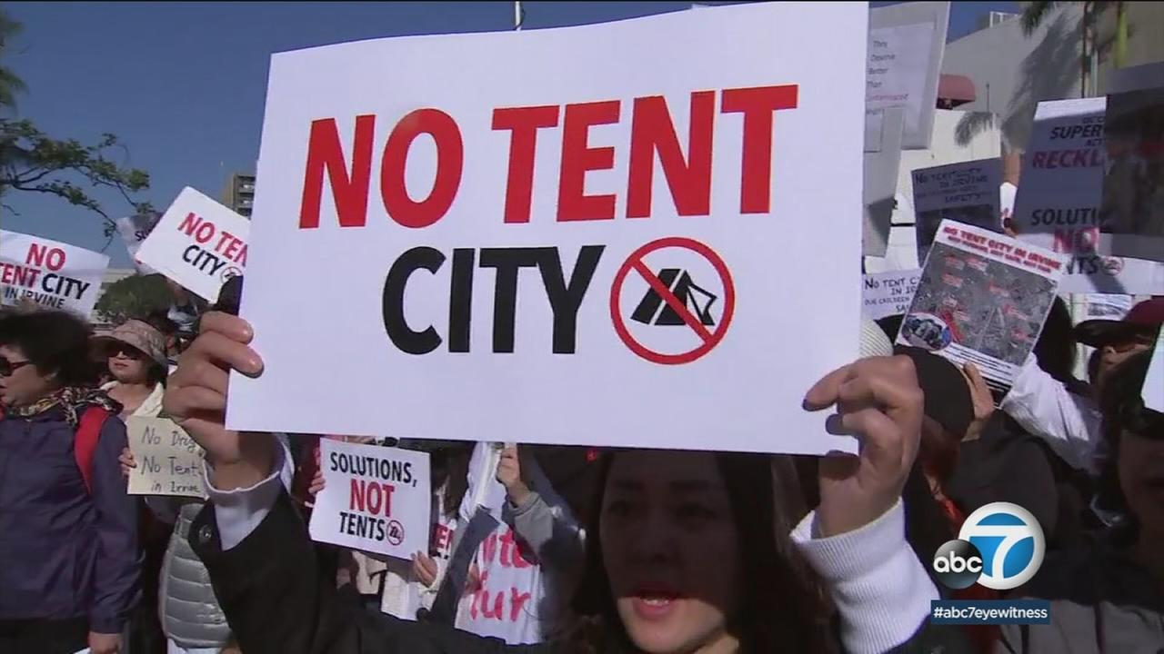 After a massive protest, the Orange County Board of Supervisors on Tuesday voted to rescind its plan to erect tents to temporarily house homeless people in OC cities.