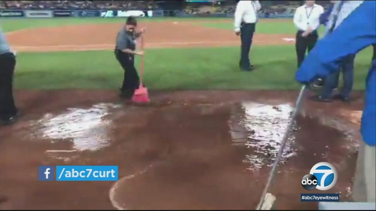 A day after raw sewage flooded Dodger Stadiums field, crews are diagnosing what went wrong and cleaning up to prepare for Thursdays season opener.