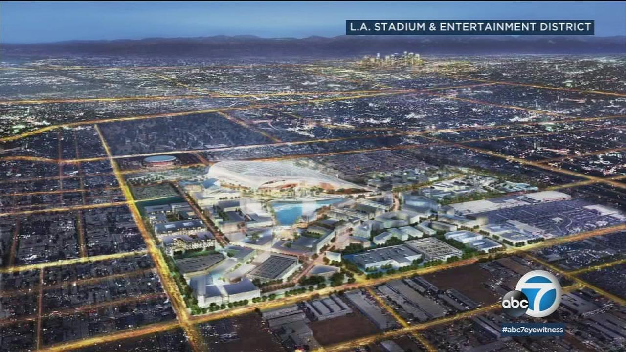 Construction on a new multibillion-dollar football stadium in Inglewood is bringing in lots of new jobs.