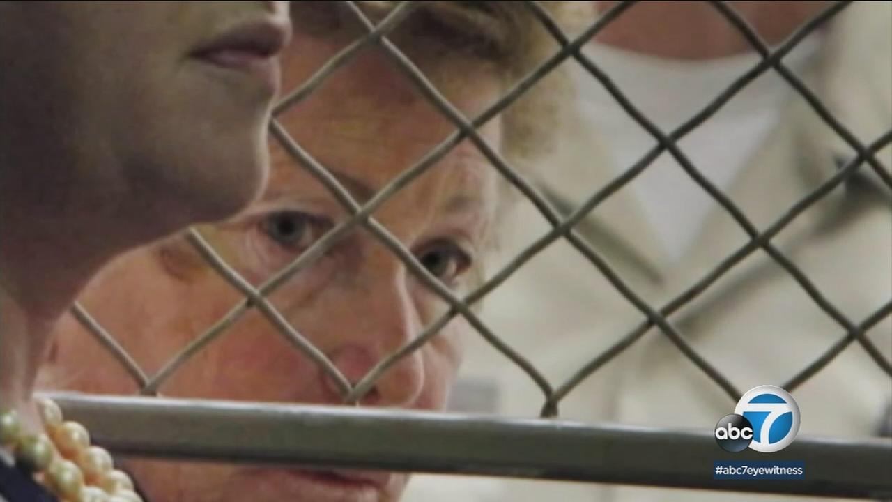 Lois Goodman, a former professional tennis umpire, is shown after being arrested in her husbands murder years ago.