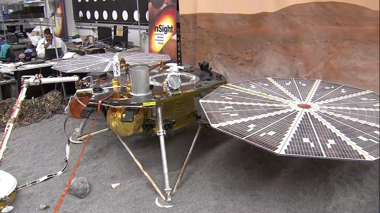 The InSight is shown as part of the plan for the launch and mission to Mars.