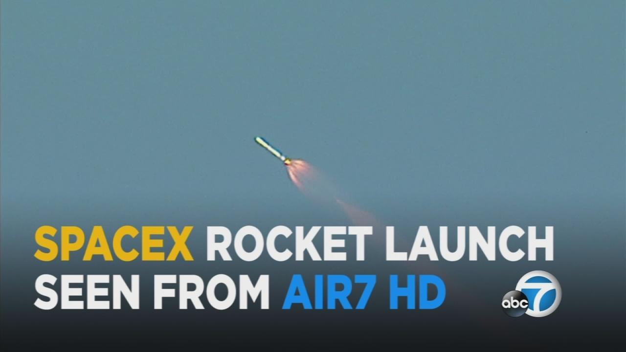 SpaceX launched its Falcon 9 rocket from the Vandenberg Air Force Base Friday, and AIR7 HD captured the spectacular sight.