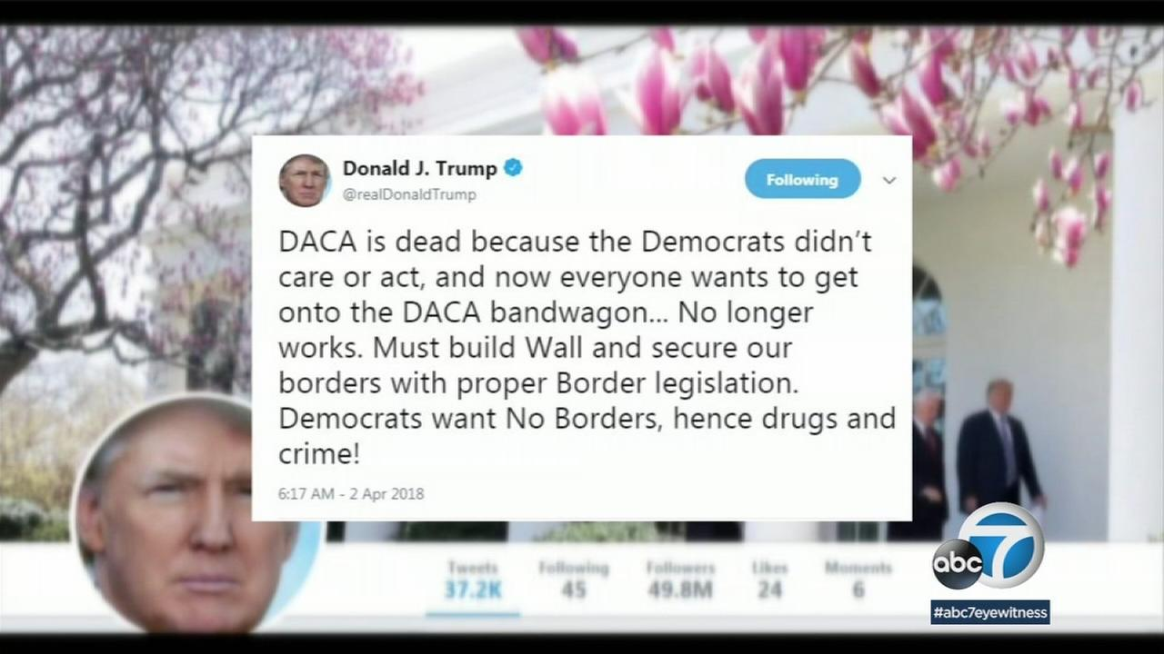 President Trump demanded that Congress pass new border legislation using the Nuclear Option if necessary to muscle it through the Senate.