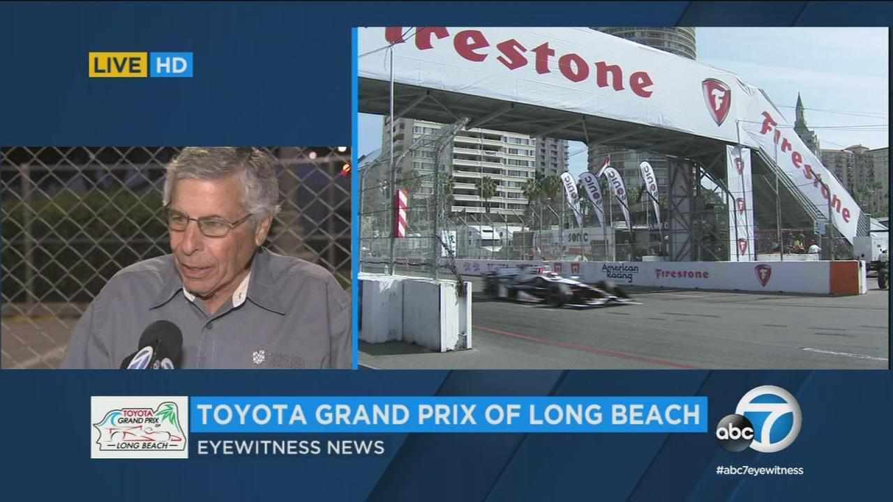 The Toyota Grand Prix of Long Beach is in two weeks, but fans got a sneak peek of the race track on Tuesday.