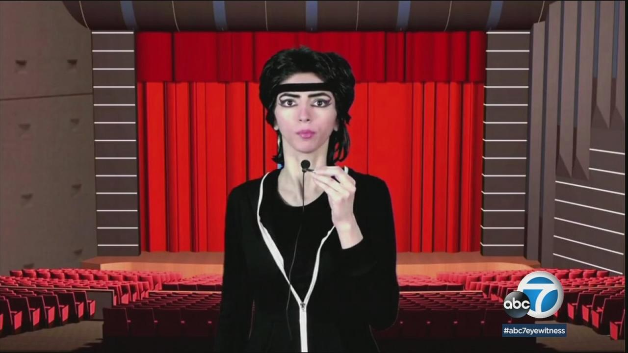 A screenshot of the alleged YouTube shooter Nasim Aghdam on one of her YouTube videos.