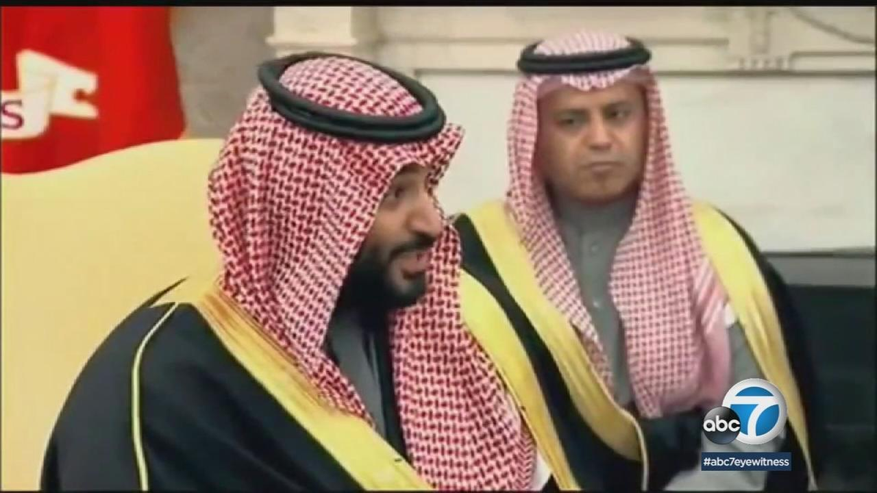 Mohammed Bin Salman, the crown prince of Saudi Arabia, is shown in a file photo during his earlier meeting with President Donald Trump.