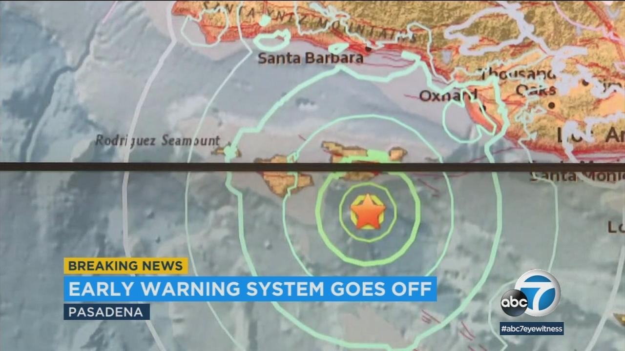 A magnitude 5.3 earthquake on Thursday afternoon triggered an early warning system that is being developed at Caltech.