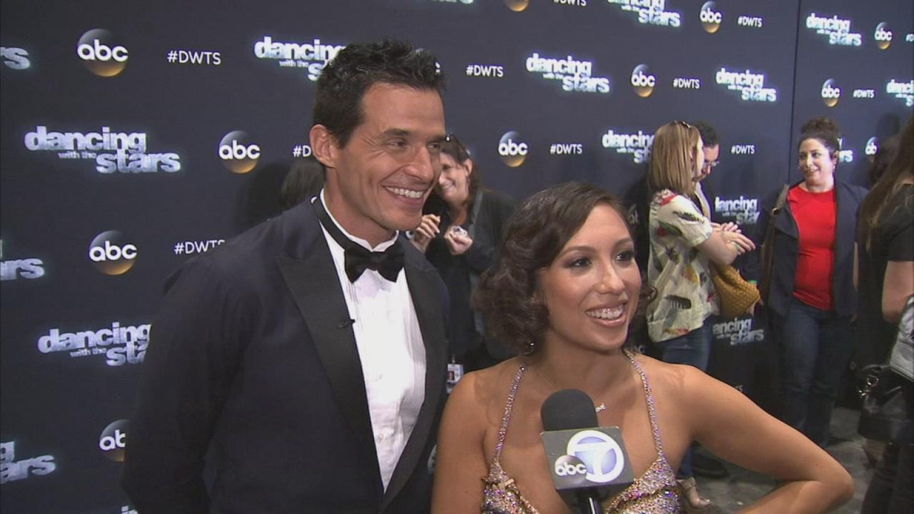 Antonio Sabato Jr. and Cheryl Burke following the week 3 elimination on Dancing With The Stars on Monday, Sept. 29, 2014.