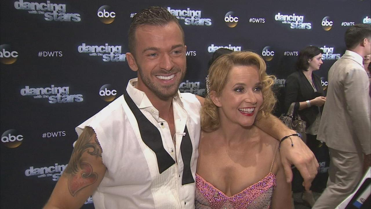 Lea Thompson and her partner Artem Chigvintsev on Dancing With The Stars week 3 on Monday, Sept. 29, 2014.