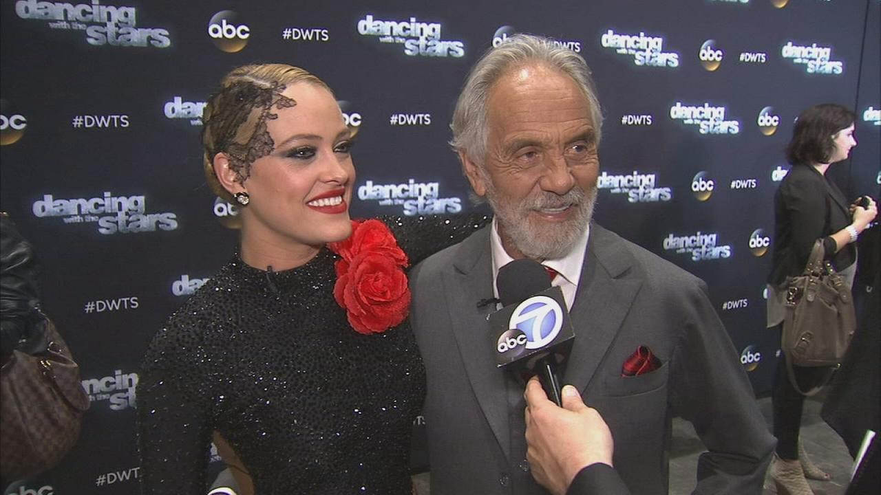 Tommy Chong and his partner Peta Murgatroyd on Dancing With The Stars week 3 on Monday, Sept. 29, 2014.