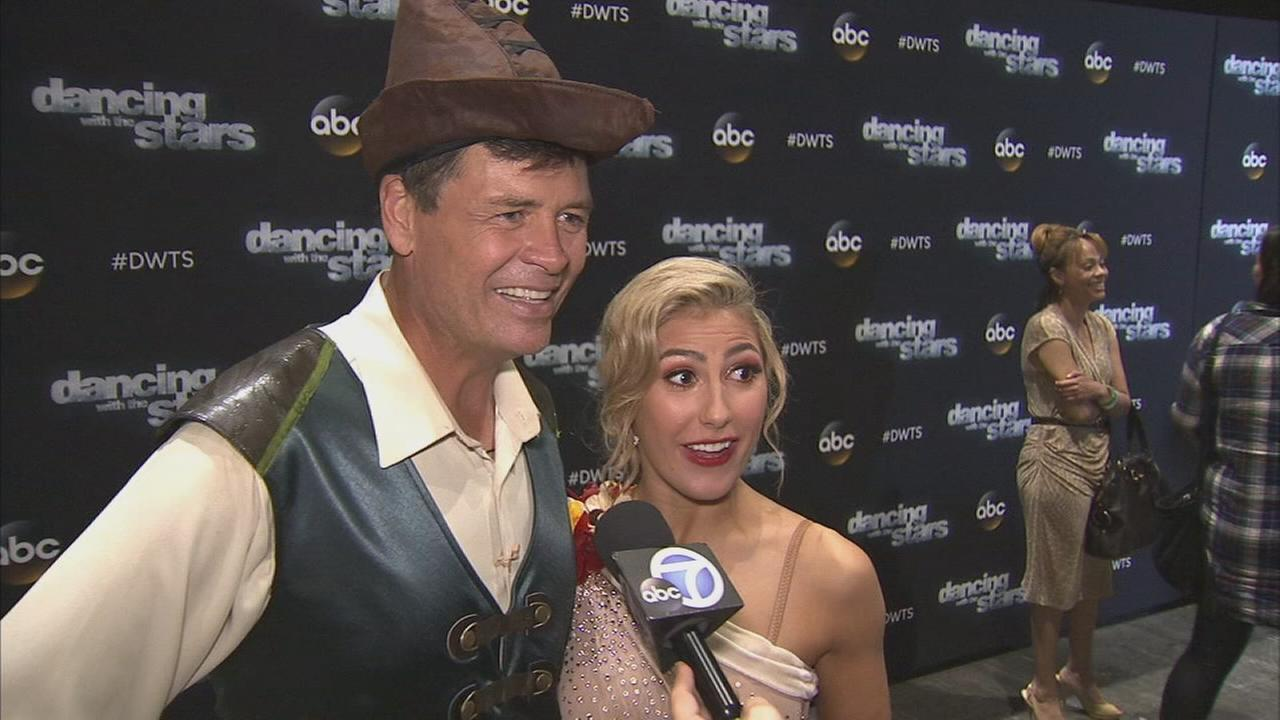 Michael Waltrip and Emma Slater on Dancing With The Stars week 3 on Monday, Sept. 29, 2014.