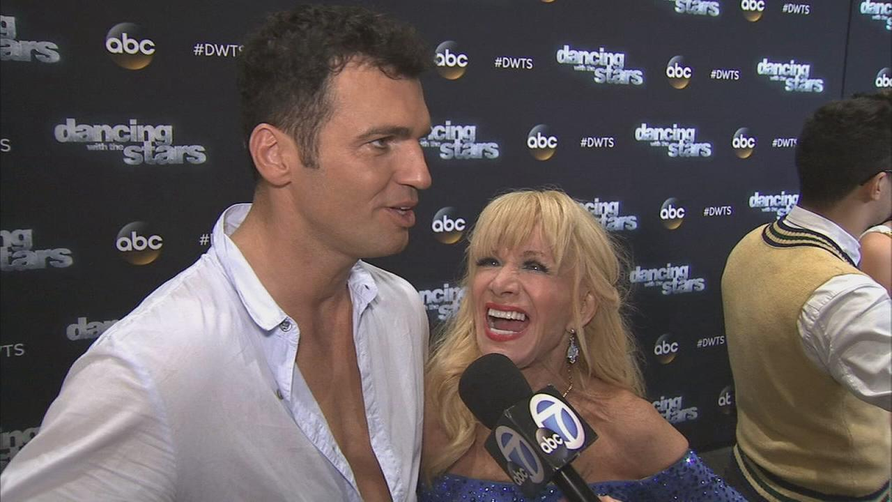 Betsey Johnson and Tony Dovolani on Dancing With The Stars week 3 on Monday, Sept. 29, 2014.