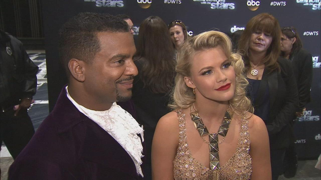 Alfonso Ribeiro and Witney Carson after Dancing With The Stars on Monday, Sept. 29, 2014.