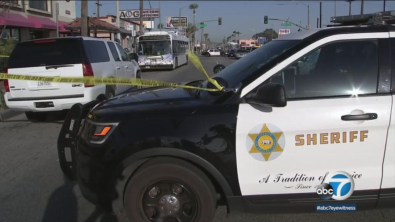 A brutal stabbing on a local bus left a man fighting to stay alive and investigators trying to track the suspect.