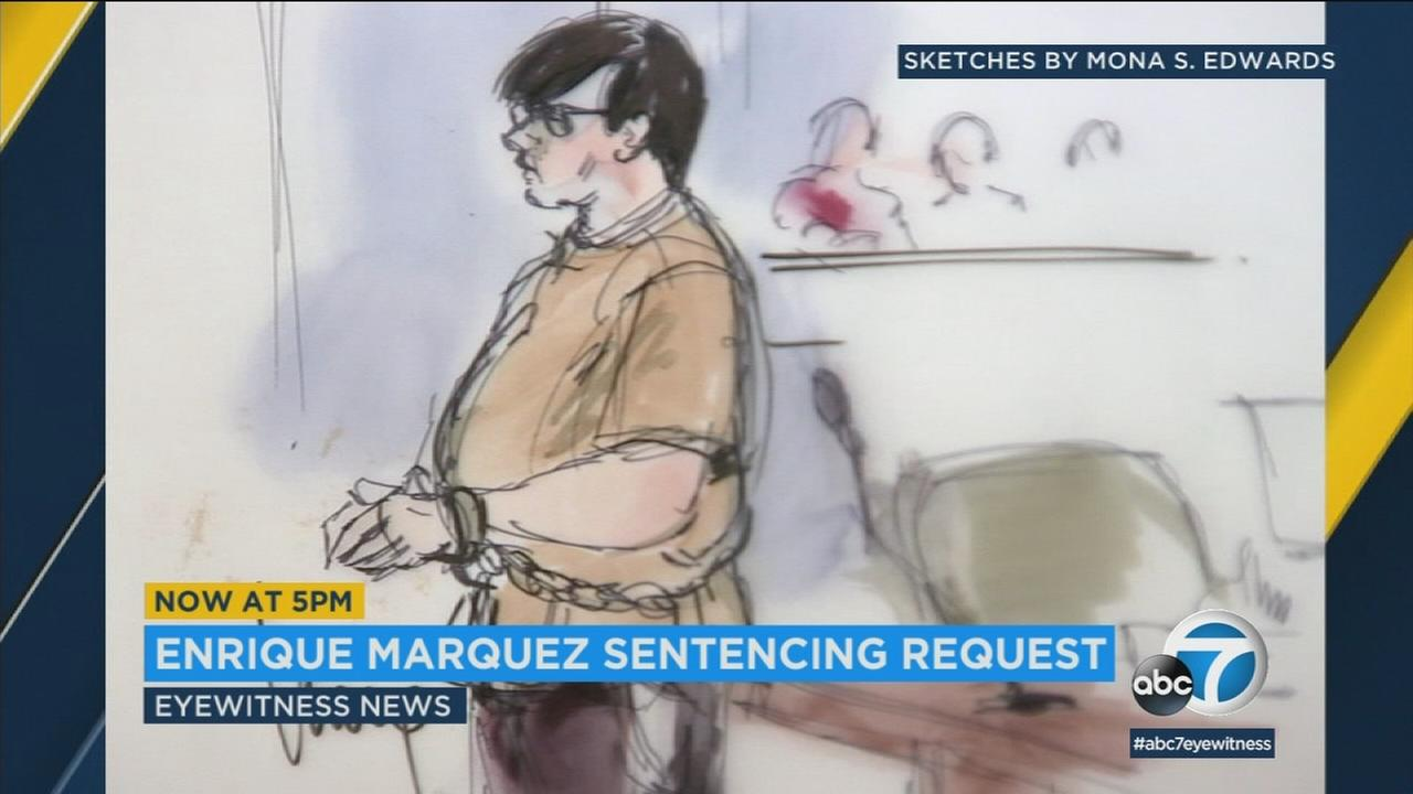 Relatives who lost family members in the 2015 San Bernardino terror attack are asking the court to impose a stiff sentence on Enrique Marquez Jr.