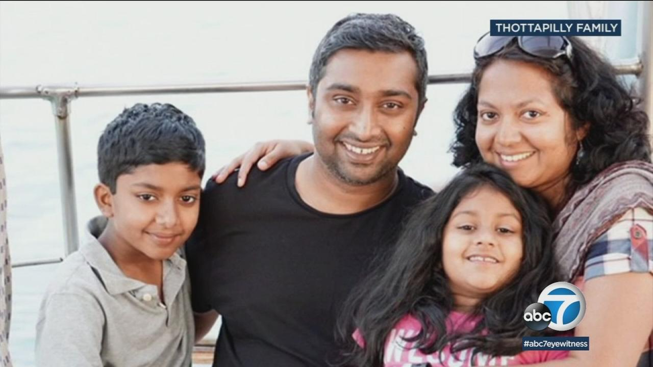 A family reported missing from Valencia is shown in an undated photo.