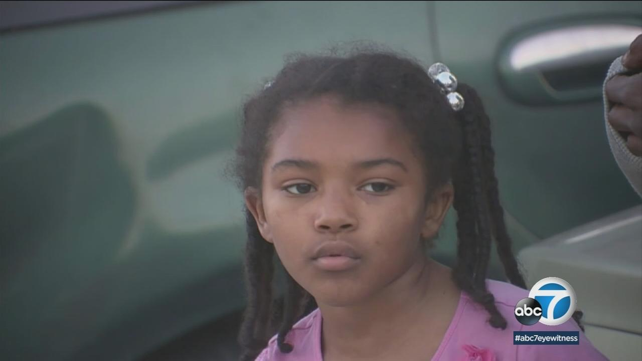 Malaiha Cole is shown during an interview talking about how she called 911 to help her and her brother after they were kidnapped.