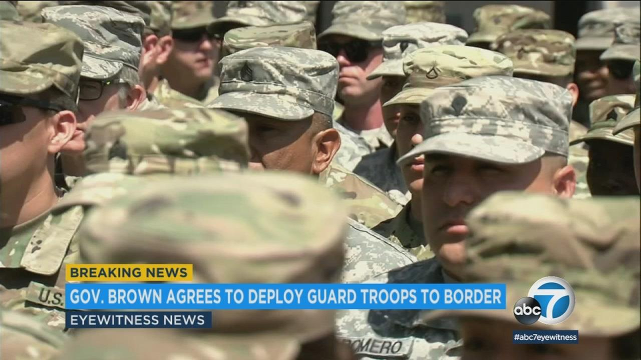Gov. Jerry Brown has agreed to deploy 400 National Guard troops at President Trumps request -- but not for immigration enforcement.