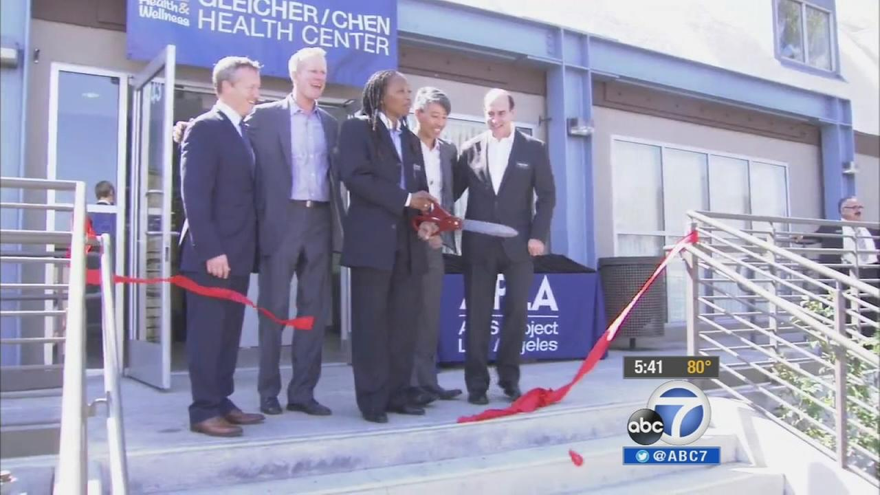 Wednesday was the grand opening of a new AIDS Project Health and Wellness Center in Baldwin Hills.