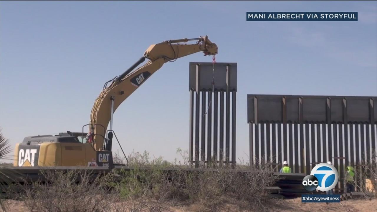 New images of the Santa Teresa Border Wall Replacement Project going into place just west of El Paso, Texas.