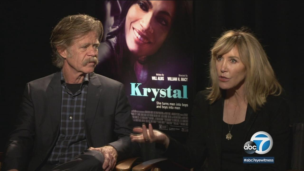 Acting couple William H. Macy and Felicity Huffman join forces in the new dark comedy Krystal.