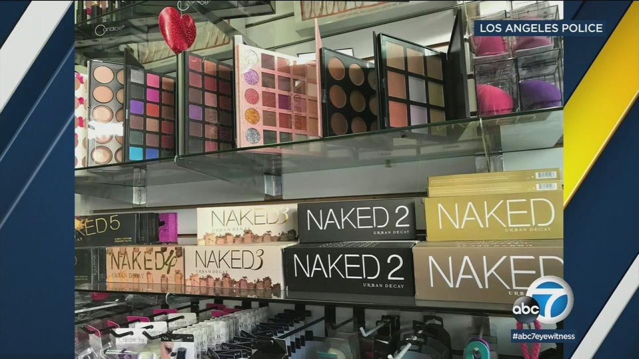 A Los Angeles Police Department task force has seized $700,000 worth of counterfeit cosmetics after raiding 21 locations in downtowns Fashion District, an LAPD spokesman said.