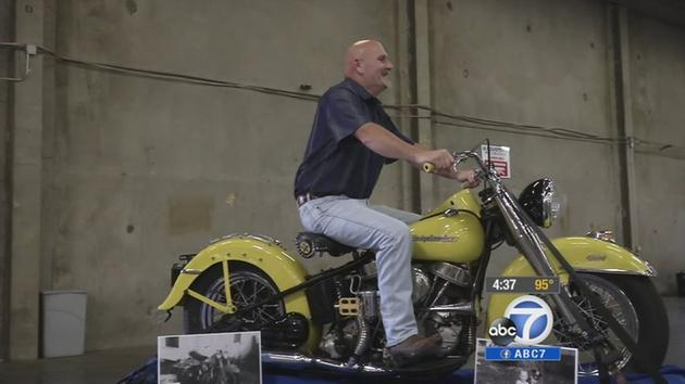 stolen harley-davidson motorcycle found after 42 years