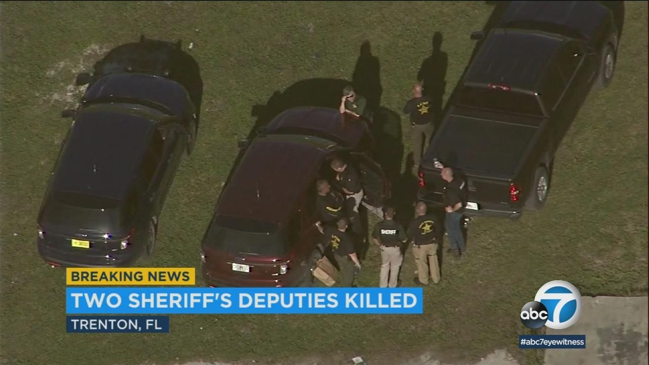 The scene of a fatal deputy shooting in Florida on Thursday, April 19, 2018.