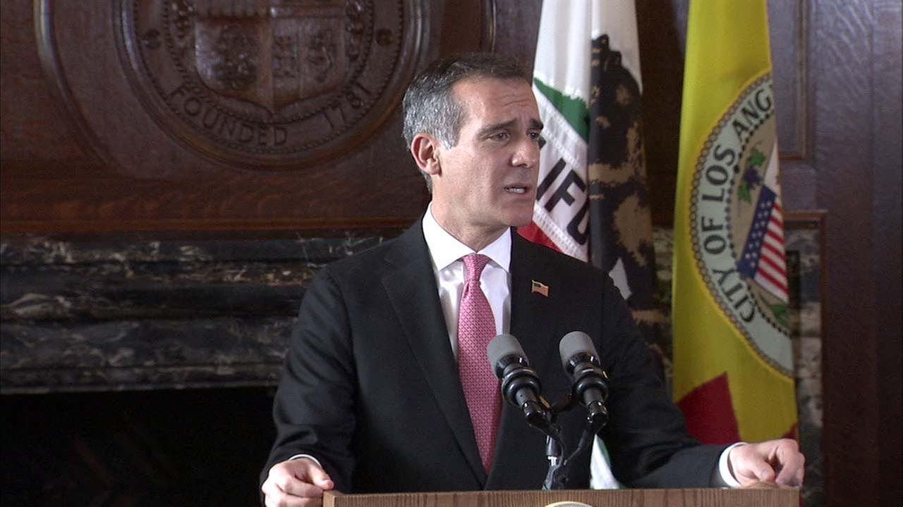 L.A. Mayor Eric Garcetti discusses his proposed budget.