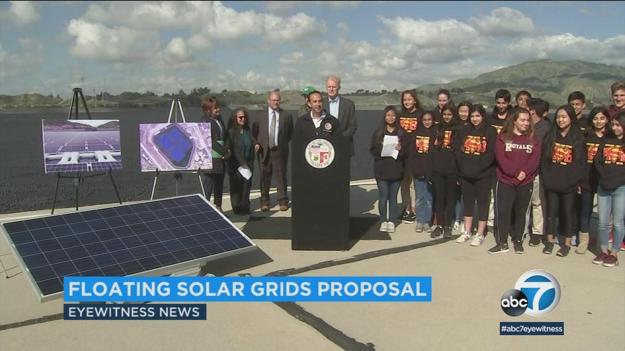 A Los Angeles councilman proposes floating solar panels on reservoirs.