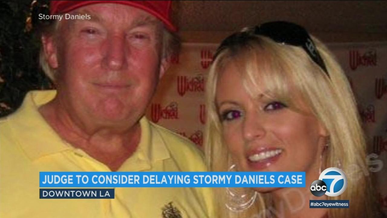 President Donald Trump and Stormy Daniels are seen in an undated photo.